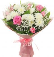 Лирика (розы с хризантемами)