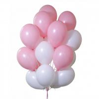 19 шаров розовых и белых