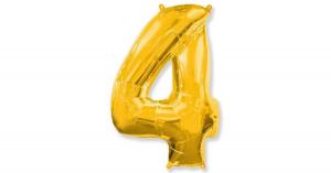 Цифра 4 102см Золото