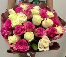 Розовый и белый
