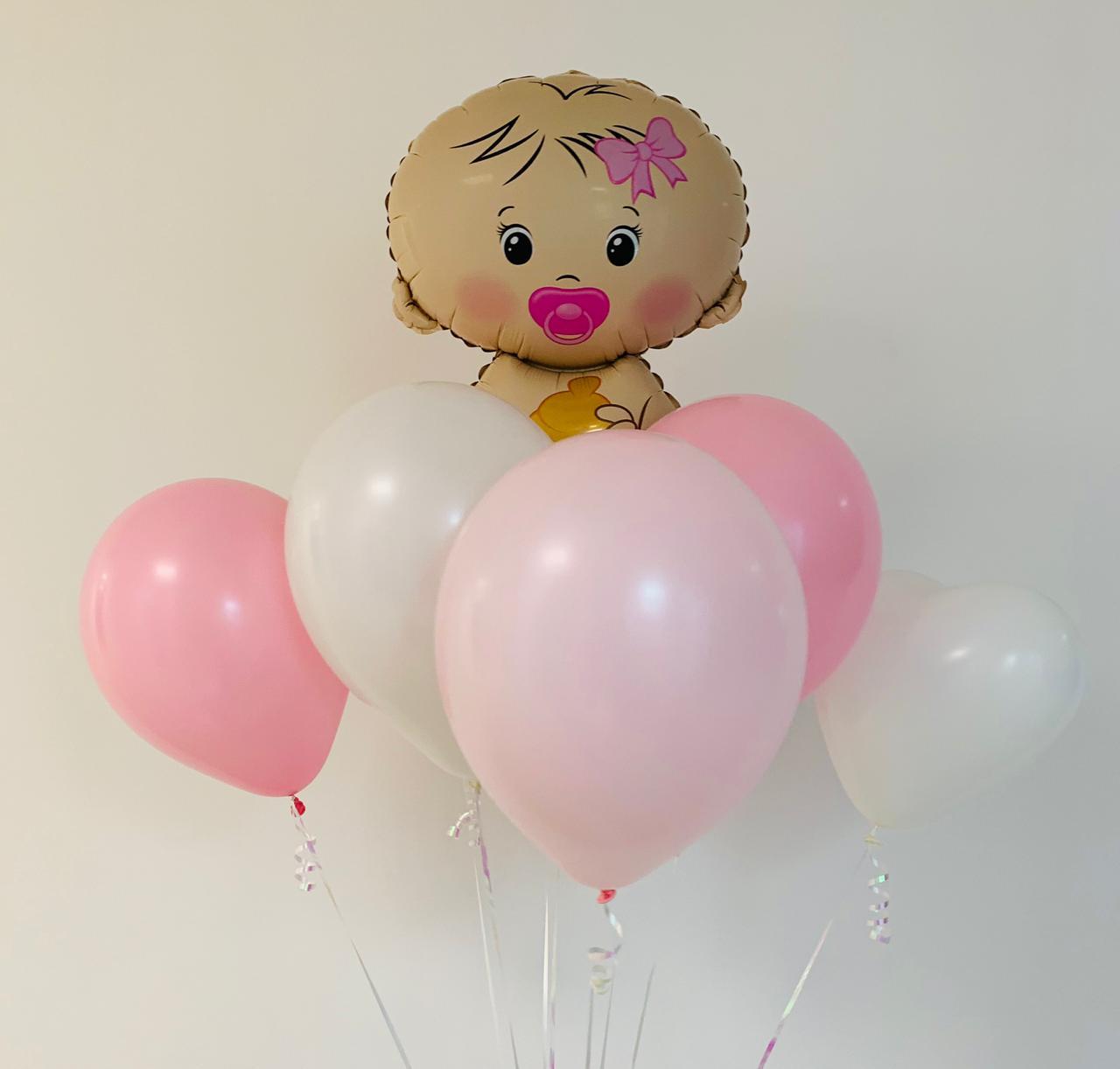 Фонтан из шаров на выписку